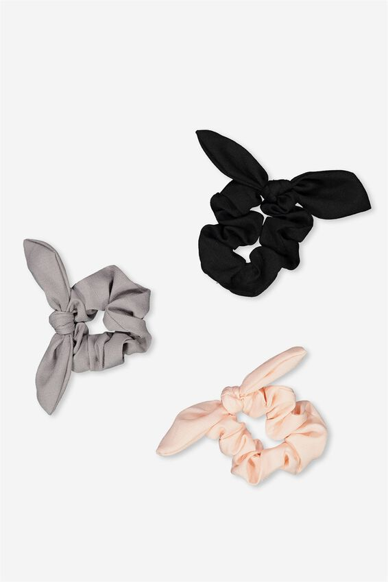 Summer Scrunchie Trio Set, NEUTRAL MIX