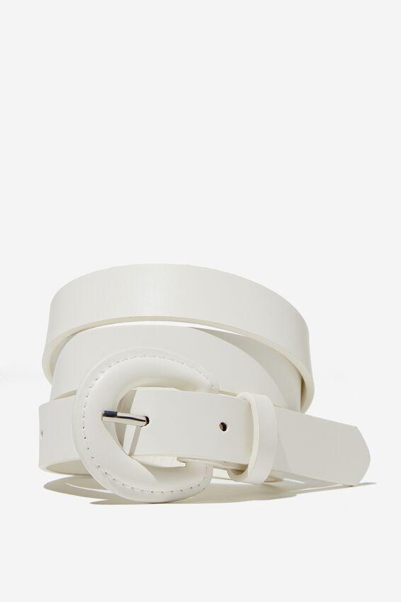 Nadia Retro Belt, WHITE