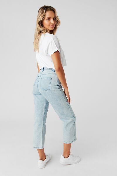 Wide Leg Jean, BLEACH BLUE WASH