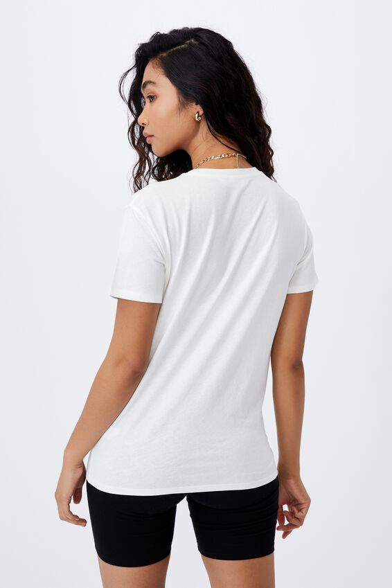 Lola Printed Longline T Shirt, WINTER WHITE/CALIFORNIA HORSES