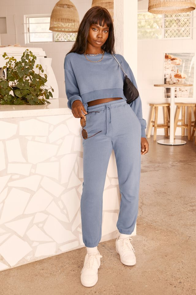 Louisa Cropped Jumper, WASHED BLUE