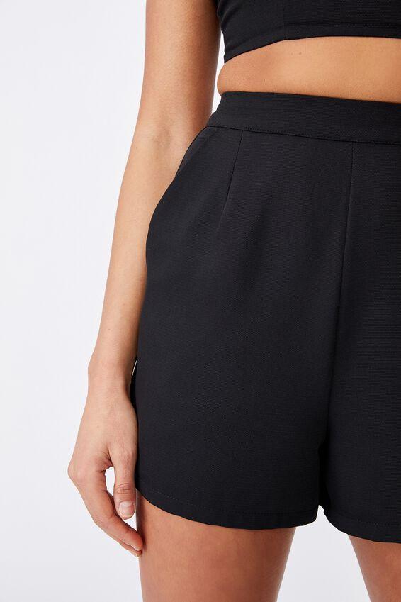 Dakota Tailored Short, BLACK