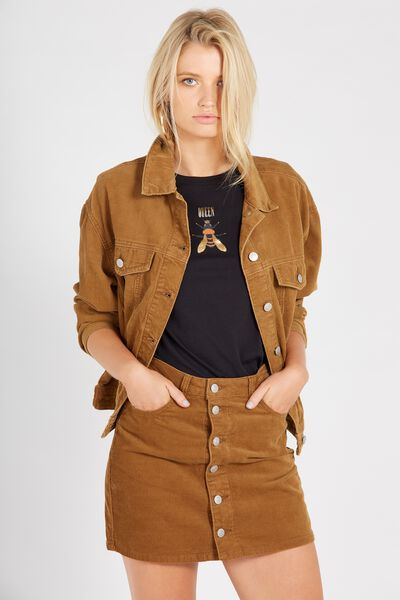 Slouch Cord Jacket, TAN