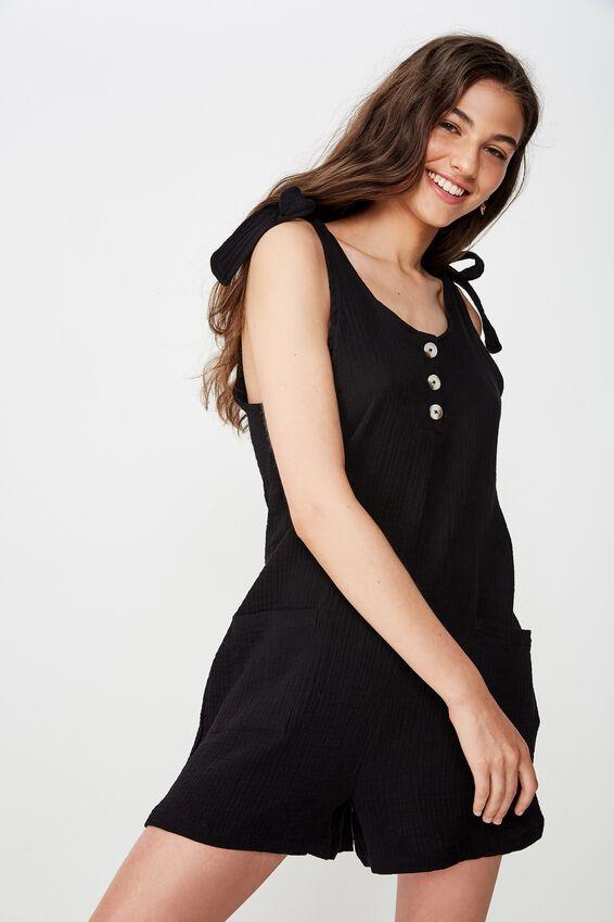 Sloane Playsuit, BLACK