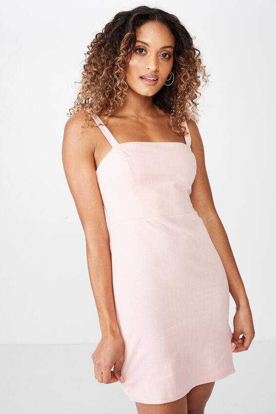 Bianca Wide Strap Cami Dress, DUSK PINK