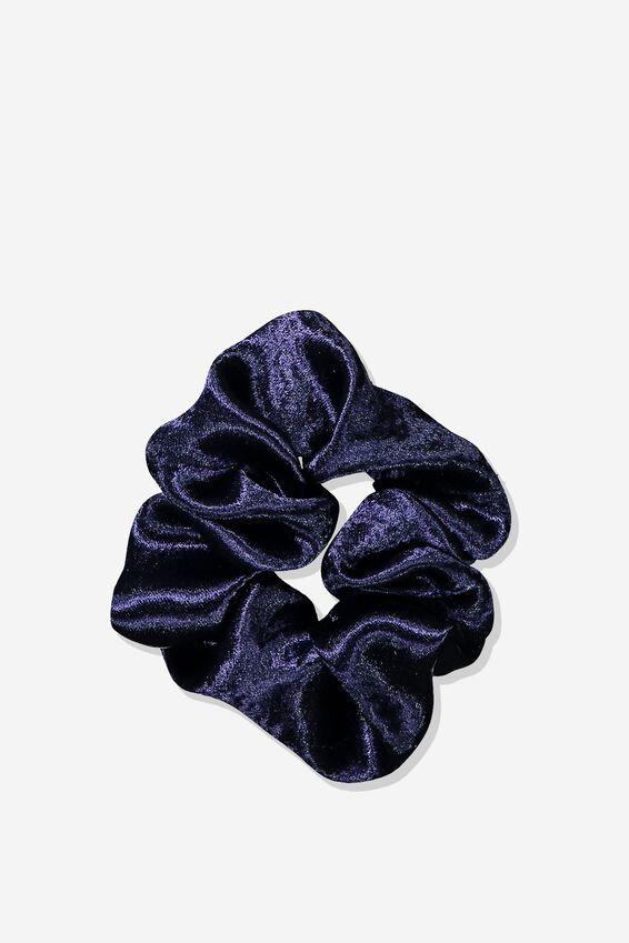 Satin Scrunchie, NAVY BLUE