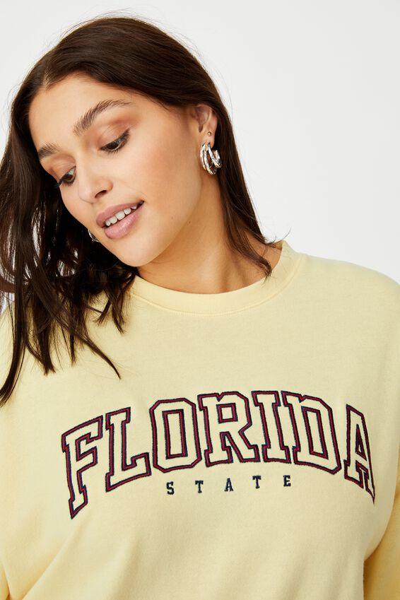 Lotoya Graphic Crew Sweat, BANANA YELLLOW/FLORIDA