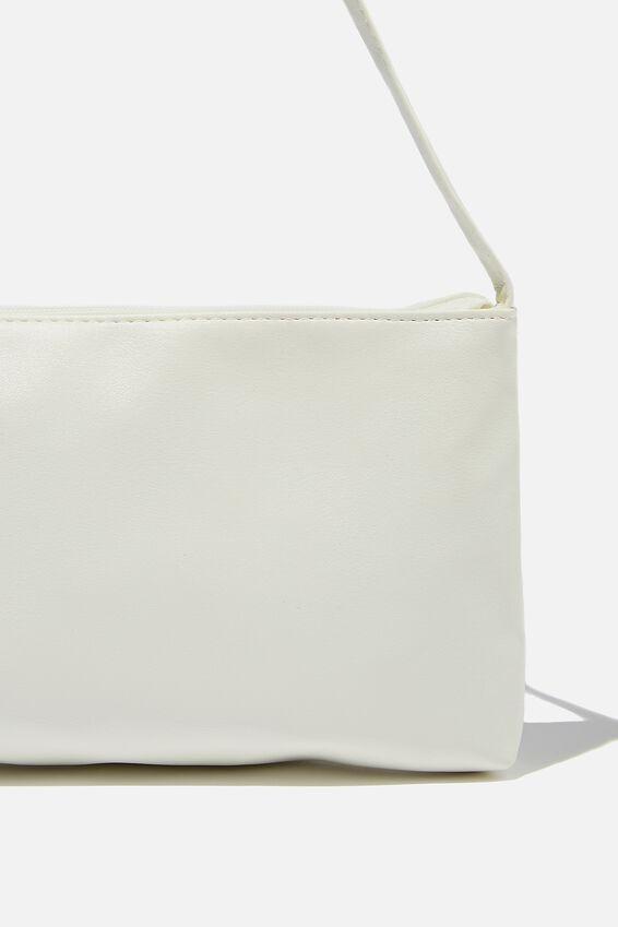 Keira Shoulder Bag, WHITE