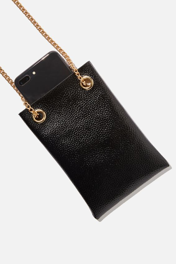 Gia Phone Pouch Cross Body Bag, BLACK