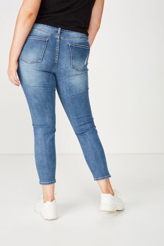 Skinny Premium Ankle Grazer Jean, PEPPER BLUE
