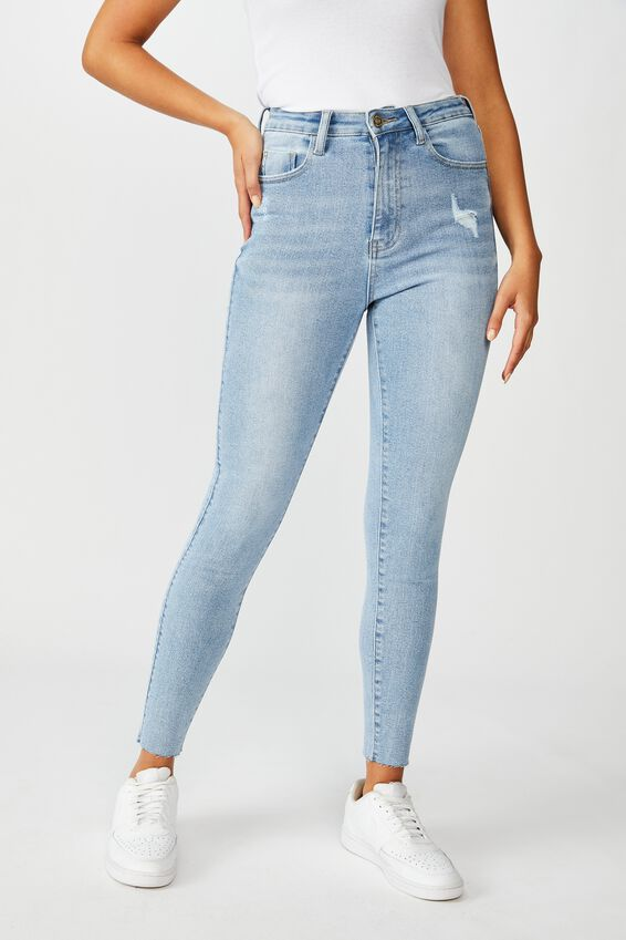 The Skinny Premium High Rise Jean, SUNRISE BLUE
