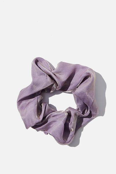 Shot Satin Scrunchie, BLUE VIOLET