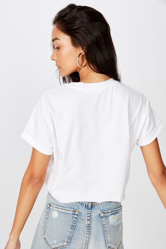 Lost In Love Crop Tee, WHITE/LOST IN LOVE