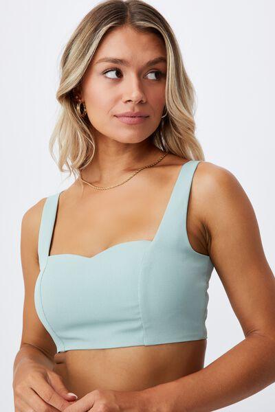 Phoebe Crop Top, SOFT MOSS
