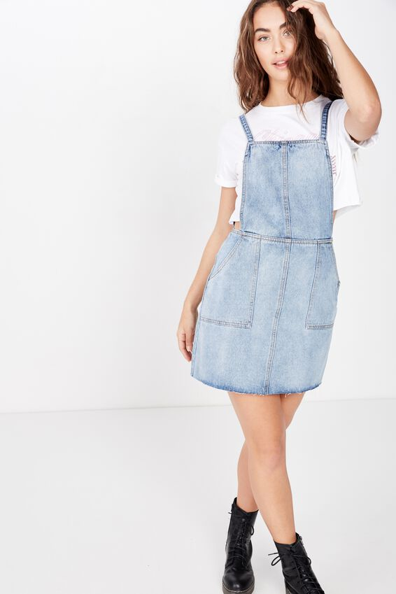 Jennifer Aline Denim Dress, STORMY BLUE