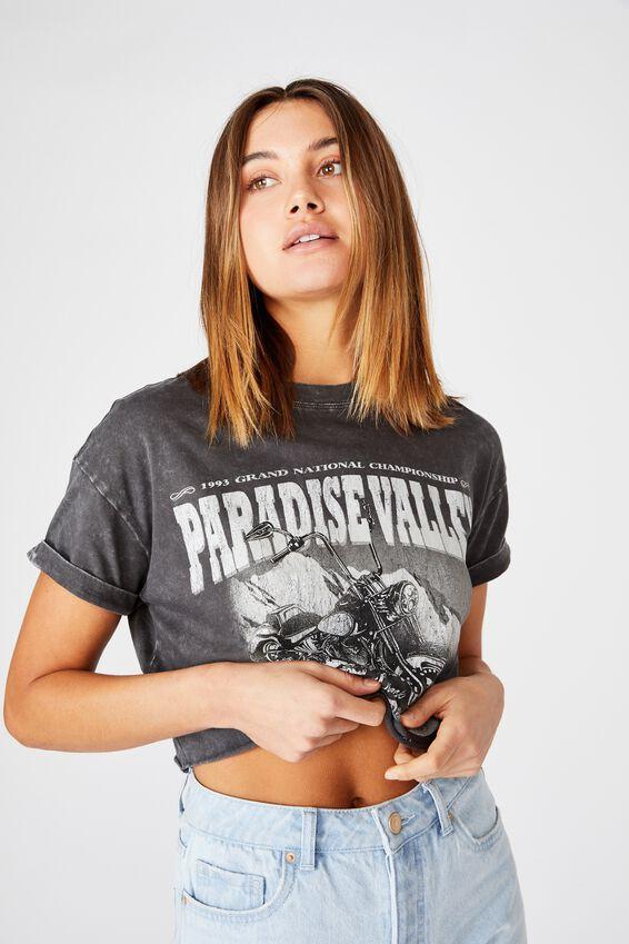 Tamara Printed Crop T Shirt, WASHED PHANTOM PARADISE VALLEY