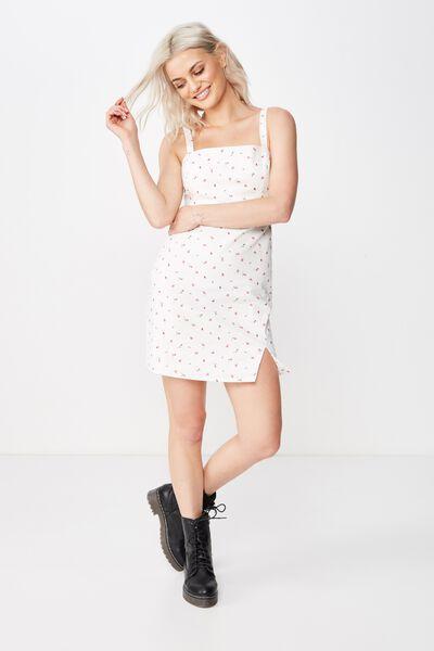 Bianca Wide Strap Cami Dress, KIKI PINK DITSY