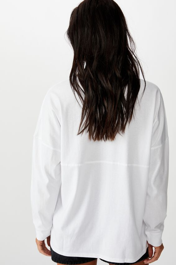 Barbados Long Sleeve Tee, WHITE/NYC PLACEMENT STRIPE