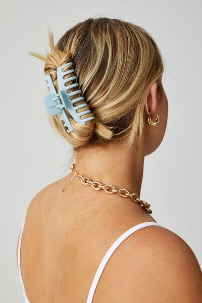 Melissa 2 Pack Hair Claw, CUCUMBER GREEN/SERENE BLUE