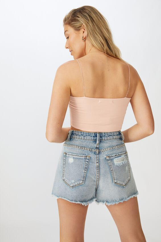 Sara Thin Strap Crop, PINK FLOSS
