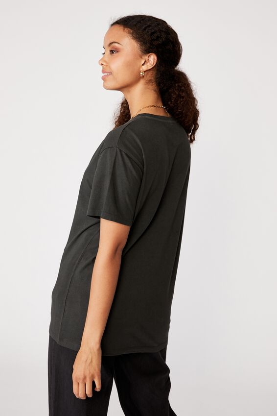 Lola Printed Longline T Shirt, VINTAGE WASH PHANTOM/WILD COBRA