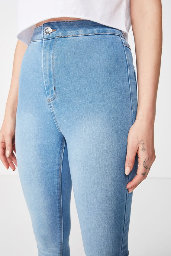 Short Leg Super Skinny Sky High Jean, WAVE BLUE