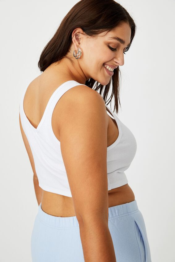 Laurel Notch Front Tank, WHITE