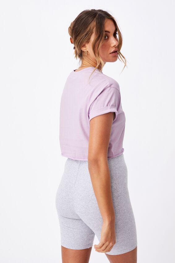Ciara Crop T Shirt, SWEET LILAC