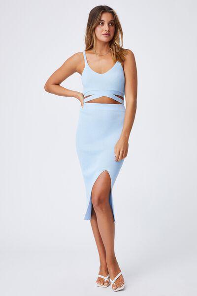 Audrey Midi Skirt, BLUEBELL