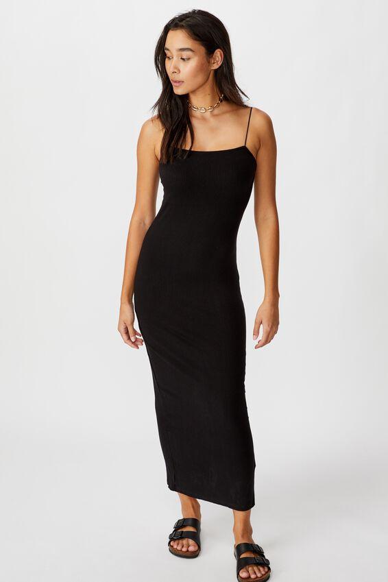 Riyah Maxi Dress, BLACK