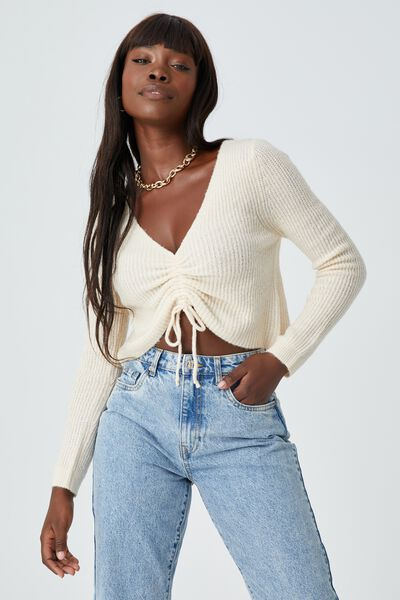 Haven Drawstring Knit, COOKIES AND CREAM
