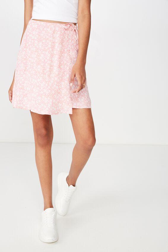 Macie Wrap Skirt, ALLY DITSY SMALL