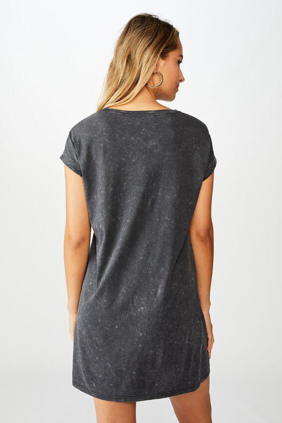 Izzy Tee Dress, WASHED BLACK/EAGLE PATRIOT