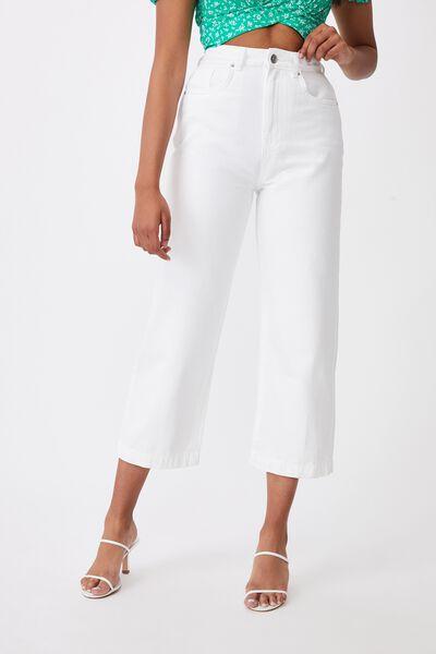 Wide Leg Jean, CLOUD WHITE