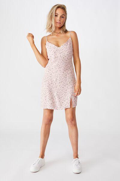 Bella Slip Dress, DAPHNE FLORAL PINK