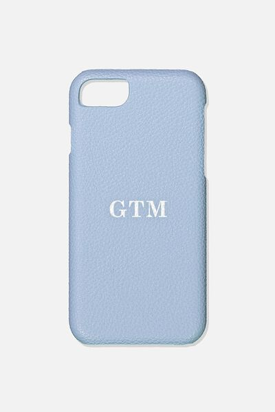 Customised Phone Cover- iPhone 6/7/8, PALE BLUE PEBBLE