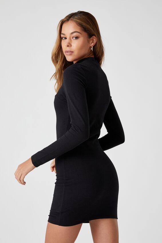 Harmony Mini Dress, BLACK