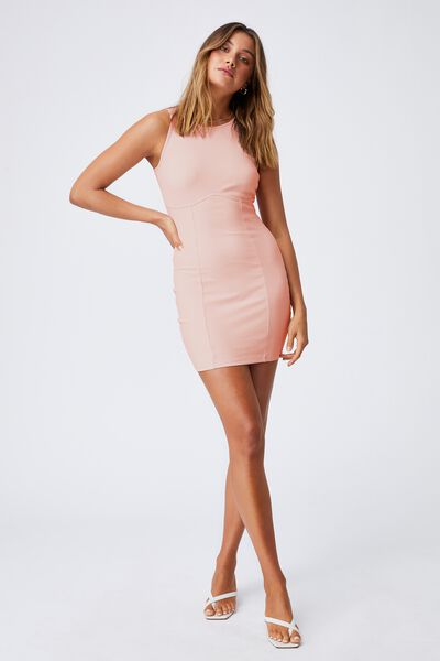 Allie Fitted Mini Dress, CHIC PINK