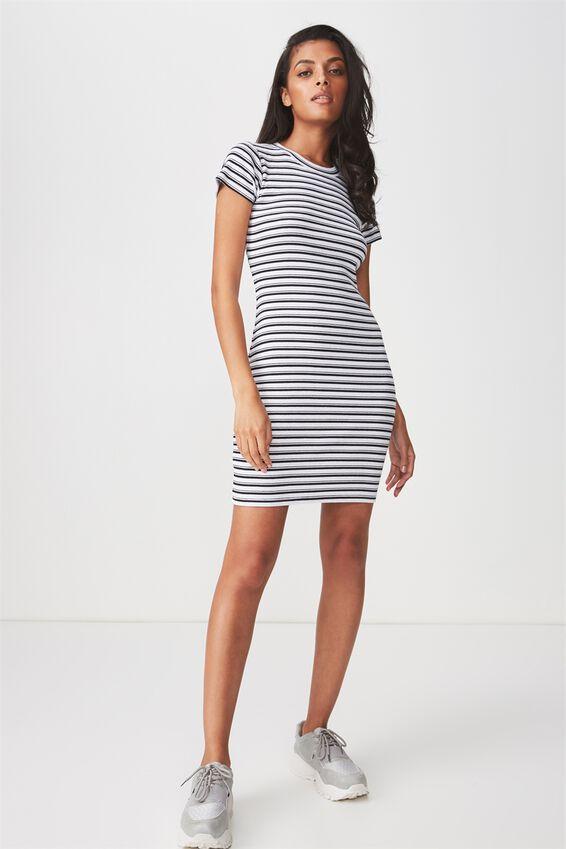 Rib T-Shirt Mini Dress | Tuggl