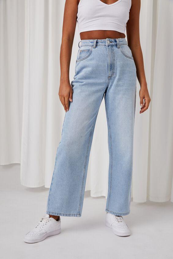 Super High Rise Baggy Jean, CLEAN BLUE