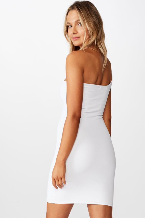 Lily One Shoulder Dress, WHITE