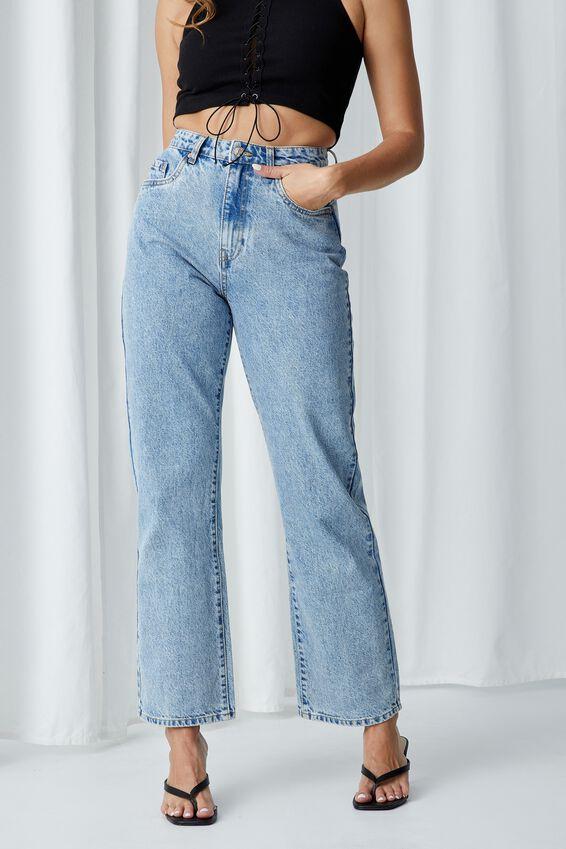 Full Length Wide Leg Jean, ARIZONA BLUE FADE