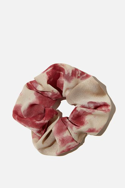 Mono Tie Dye Scrunchie, PINK CREAM
