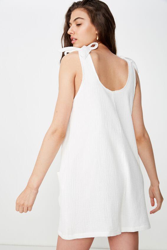 Sloane Playsuit, WHITE