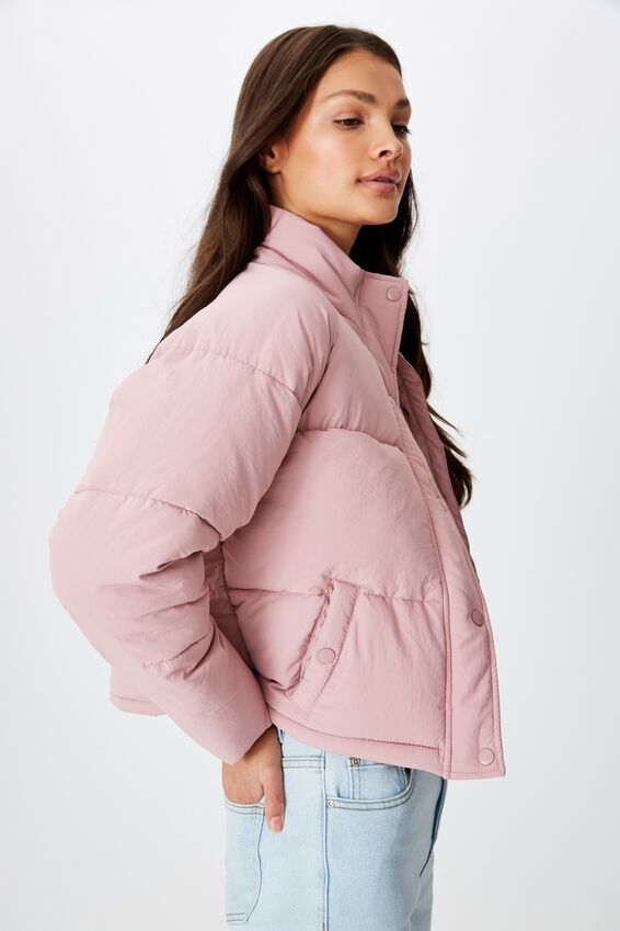 Classic Puffer Jacket, ANTIQUE ROSE