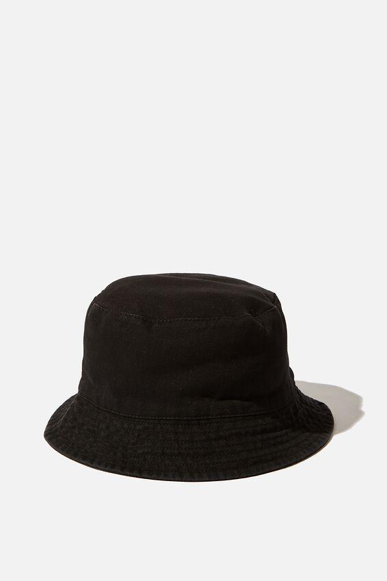Bucket Hat, WASHED BLACK