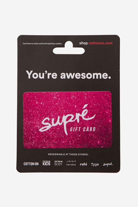 Supre Gift Card $20, WHITE