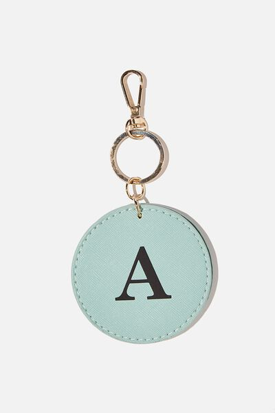 Personalised Key Ring With Mirror, MINT TEXTURE