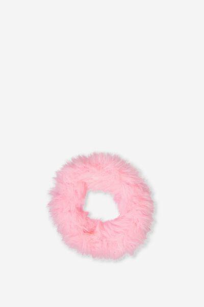 Faux Fur Scrunchie, PINK