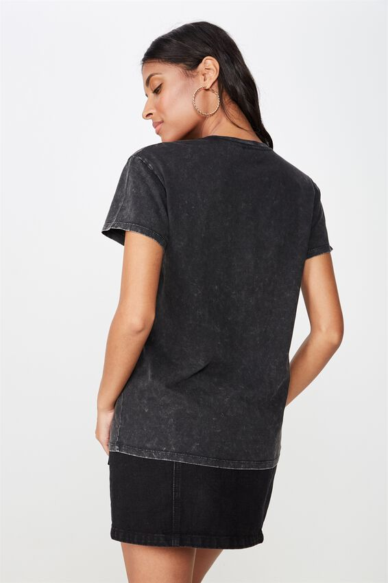 Kendall Printed T Shirt, WASHED BLACK ROLLING STONES
